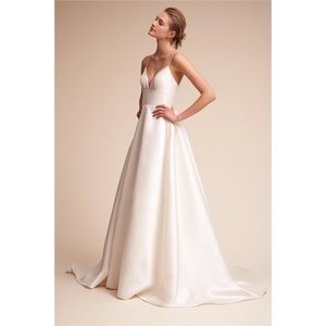 BHLDN Opaline Dress | Size 12 in Ivory | Worn Once